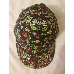 H&M Floral Adjustable Baseball Cap (Never Worn)